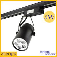 5PCS/lot led track lighting fixtures 5w AC85~265V white/warm white High power energy saving track lamps spotlights free shipping