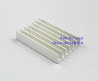 30 Pieces Aluminum 30mm x 20mm x 6mm Heatsink Radiator Router CPU Heat Sinks Cooler