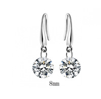 White Gold plated austrian crystal drop earrings fashion Jewelry 1266
