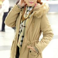 New Winter Women's Lady Casual coat Faux Fur Fleece Lined Jacket Parka Anorak Overcoat women's winter cotton coats H174