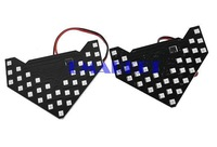 2Pcs 33-SMD Amber LED Arrow Panels for Car Side Mirror Turn Signal Light B98B TK0893 3A
