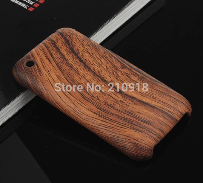 Mini order 1 pc WOOD Skin Design hard case For iphone 3G/3GS Case, free shipping(China (Mainland))
