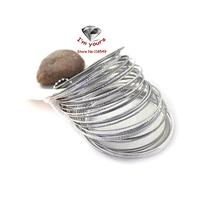 JZ223 Accessories wholesale brand sense hand-cut multilayer 21 silver bracelet 2pcs/lot