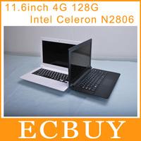 11.6inch Ultrabook Laptops Notebook Intel Celeron N2806 1.6GHz Dual core Netbooks 4GB 128GB window 7 windows 8 HDMI