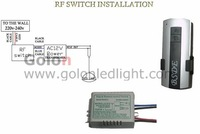 RF switch one way  Wireless RF Remote Control ON/OFF Switch for LED light 220V input shipped together with LED Pool lights order