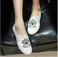 2014 cartoon embroidery eyes canvas flat shoes Ladies Shoes Fashion sy005