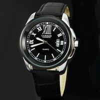 2014 Curren New Watch Men Dress Fashion Casual Roman Dial Leather Strap Analog Quartz Watch Day Date Wristwatch Relogio