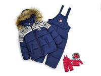FOR -20 degree, 2014 children's ski suit, kids down coat winter children's clothing child baby cotton-padded jacket set