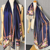 m2027 hot sale big size 180cm*90cm silk-like fabric fashion color summer beach sunscreen shawl  Imitation silk hijab