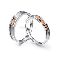 GNJ0568 Free Shipping 925 Sterling Silver Wedding Rings Fine Fashion Couple Rings Fashion Finger Rings for Women&Men