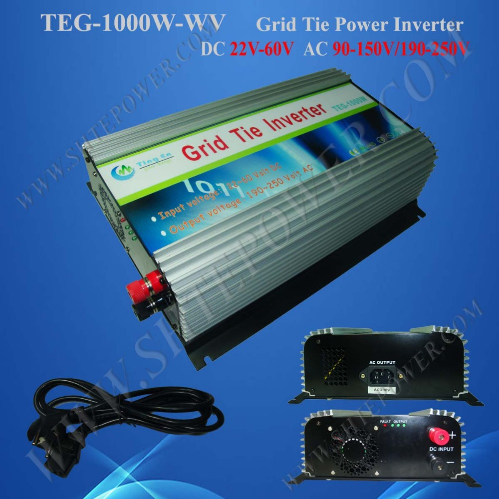 mppt grid tie solar inverter 1000w solar panel for home use dc 22-60v to ac 120v/220v(China (Mainland))