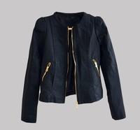 Free shipping Women faux leather jacket PU Leather Short Jacket Feminino Jaqueta couro Sexy 3colours