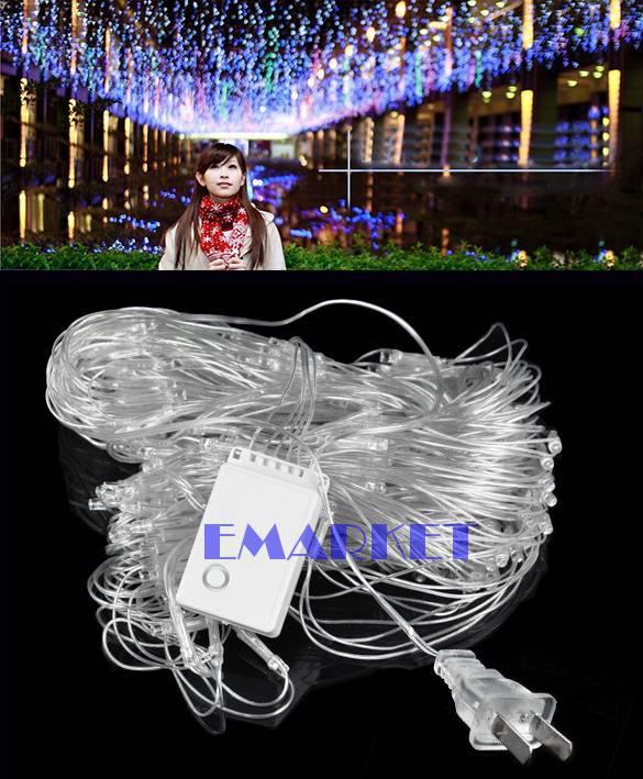 New 2014 Colorful 300 LED Net Mesh Decorative Fairy Lights Twinkle Lighting Christmas Wedding Party Lamp US Plug/110V TK1133(China (Mainland))