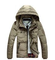 New Arrival Men's  Slim Casual Down Coat Short Hooded Winter Warm Down Jacket For Men 90% White Duck Down JK-303