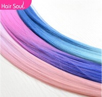 30pcs/lot  Harajuku gradient color streaked wig piece straight hair wig hair piece