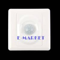 New AC 180-240V Infrared Save Energy PIR Motion Sensor Automatic Light Switch White TK0524 Z 3A