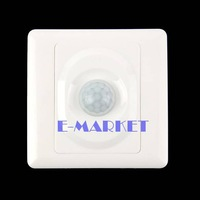 New AC 180-240V Infrared Save Energy PIR Motion Sensor Automatic Light Switch White TK0524 Z 3A