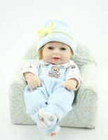 "10"" full vinyl newborn baby dolls reborn baby doll handmade lifelike mini dolls"