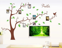 New LARGE Photo Picture Frame Tree Vine Branch Removable Wall Decor Decal Wall Sticker Free Shipping DDW-QT032