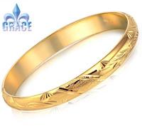 Grace Jewelry COPPER Alloy 18K Gold Plated wealthy Bangles women men Bracelets WEDDING Acessories GB755
