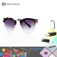 AEVOGUE with case Newest vintage brand sunglasses women Good quality Fashion sun glasses Wrap Arrow Decoration UV400 AE0161