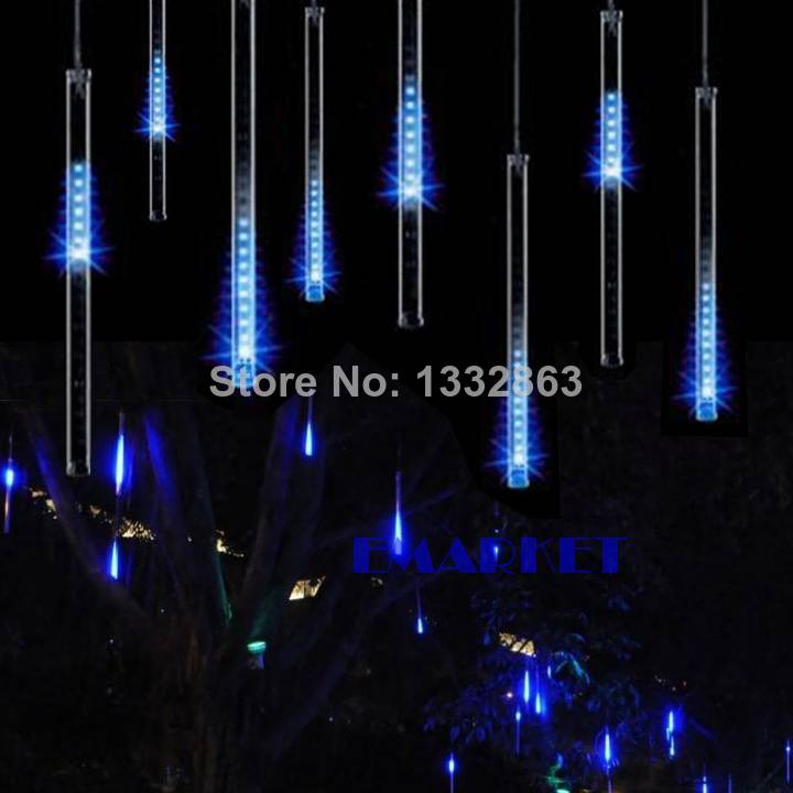 New 30CM Blue LED Meteor lights rain shower For Christmas Wedding Garden Decoration Lamp 100-240V/EU TK1171(China (Mainland))