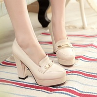 2014 Plus size shoes spring hot-selling platform thick heel single shoes female japanned leather high-heeled shoes women's shoes