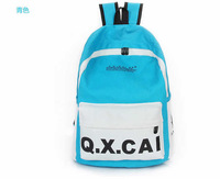 HOT! Candy color Patchwork letter printing Backpack Students School bags Travel Bag Fashion shoulder bag free shipping