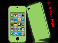 Glow in the Dark Full Cover case  Protector Shield Luminous Sticker for Iphone 5 5s  2pcs/pack  freeshipping