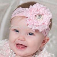 Free shipping!New Baby Kids Toddler Lace Flower Elastic Headband Hairband Headdress Headwear