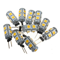 10X G4 Warm White 9 LED SMD 5050 RV Camper Marine Boat Light Bulb Lamp 12V