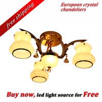 High Quality Flowers thicker glass Iron Pendant Lamp  3+1pcs E27 base type FF67F27-3
