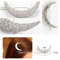 Crystal Moon Rhinestone Hair Beauty Clips Korea-Style Hair Nails New-style Banges   Nails Sweety Headdress Hair Care Kits