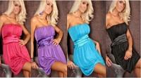 Free shipping 20pcs/lot 2014 New Hot Women's Sexy  dress party ,womenstrapless 4colors,free size,XXL  mini sexy club dress  SE40