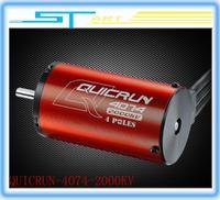 HobbyWing QuicRun 4 Poles 2000KV Sensorless Brushless Motor for 1:8 Truggy  Monster Trucks remote control car free shipping