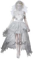 Women Vampire Zombie Dress Decadent Dark Ghost Bride Styling sexy Costumes Halloween costumes Cosplay for women
