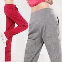 Free Shipping Women's Harem Pants Fleece Sweatpants Straight Sports Casual Hip-Hop Pants M/L/XL/XXL New 2014