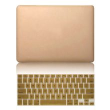 Luxury Ultra Thin Gold Hard Matte Cases + Free Membrane Keyboard Cover For Macbook Air 11 13 Pro 13 15 Pro 13 15 Retina Sleeve(China (Mainland))
