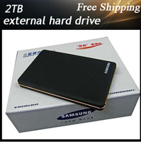 High quality  External hard drive storage 2TB Desktop and Laptop mobile hard disk genuine USB 2.0 Free shipping