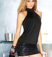 Free shipping  20pcs/lot 2014 New Hot Women's Sexy Cotton hot dress party ,sexy club dress women,black color, drop shipping,SE38