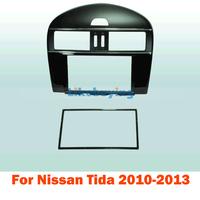 2 Din carro fascia / Car Fascia Panel / Audio Panel Frame / Dash Kit For Nissan Tida 2010 2011 2012 2013 Free Shipping
