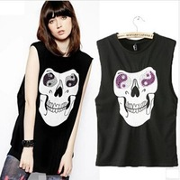 2014 European New Skull Loose Vest T-shirt