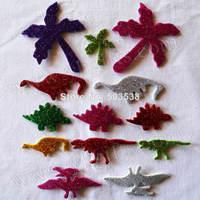50bags(1500PCS)/LOT.Mixed design dragon dinosaur coco tree glitter foam stickers,Selva sponge sticker,Decorative.Retail packing
