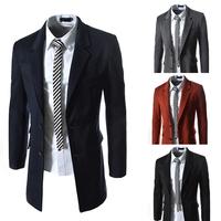 Free shipping  Korean version 2014 autumn New Gentle Men Vest Men's Formal  V-necked vest Slim Fit Fashion Blends 4 colors M-XXL