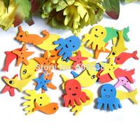 50bags(1500PCS)/LOT.Foam ocean animal stickers,Decorative stickers.Kids room decoration.Kindergarten crafts.Retail packing