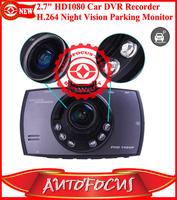 "2.7"" HD1080 P30 FPS Vehicle Car Blackbox DVR Decorder H.264 MOV G-Sensor HDMI 6 LED Light Night Vision Camera Parking Monitor"