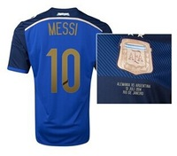 2014 Argentina vs. Germany World Cup Final Commemorative Away Soccer Jersey MESSI can customize name Best thailand quality