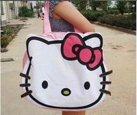 new arrival cartoon canvas handbags shoulder bag hello kitty big Shopping tote bag ,freeshipping