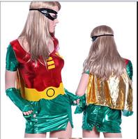 XL Big Plus Size Women Robin Hood Superhero Spandex Costumes Halloween Costume Super Heros