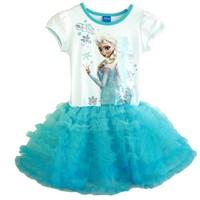 2014 Hot Selling Toddler Girls Frozen Dress Elsa Anna beautiful tutu Dress Fashion princess Dresses Children's Cloting retail